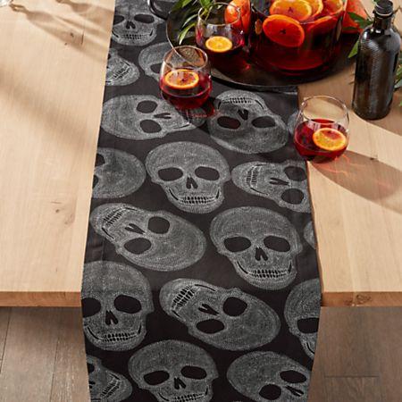 Halloween Skulls 90 Table Runner