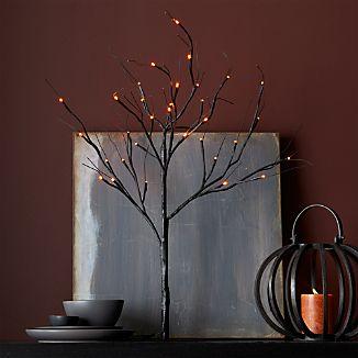 Halloween Spooky Lit Tabletop Tree