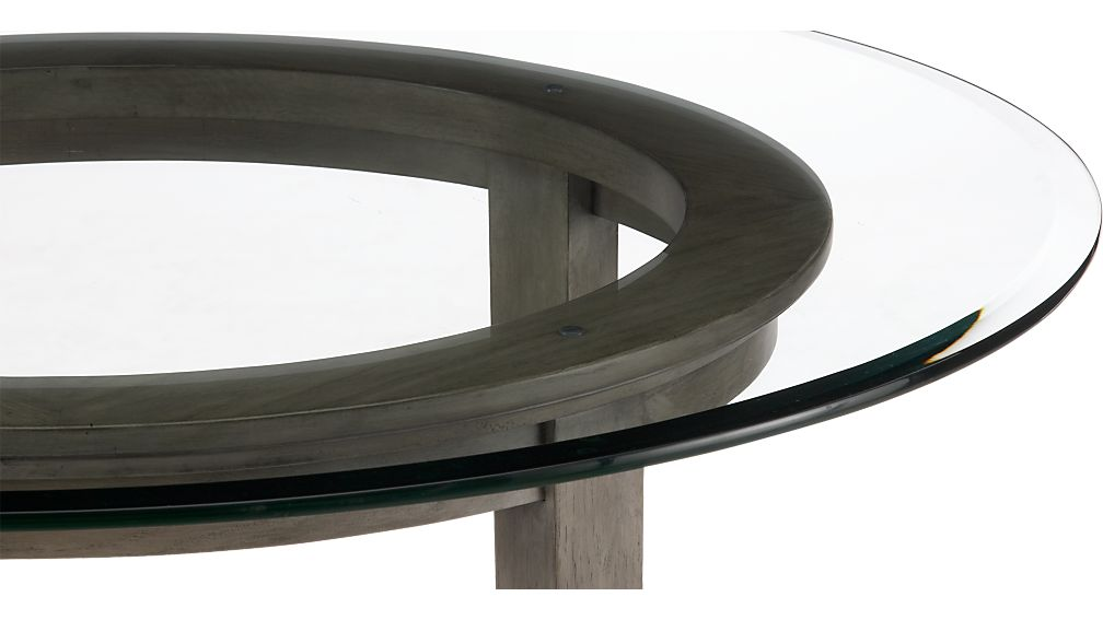 """Halo Grey Round Dining Table with 48"""" Glass Top"""