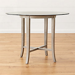 Halo Grey Round High Dining Tables Crate And Barrel