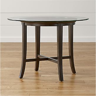 Halo Ebony Round Dining Table With 42 Gl Top