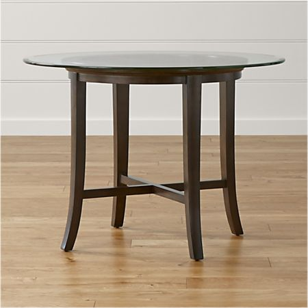 42 Round Dining Table.Halo Ebony Round Dining Table With 42 Glass Top