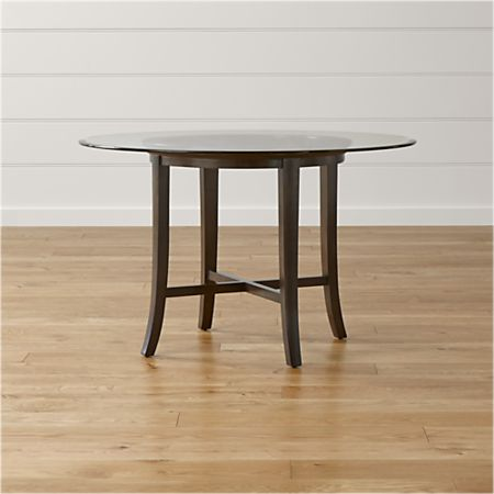 competitive price 660e4 105c0 Halo Ebony Round Dining Tables with Glass Top
