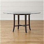 Halo Ebony Round Dining Table with 60  Glass Top