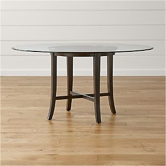 Round Glass Dining Tables Crate And Barrel