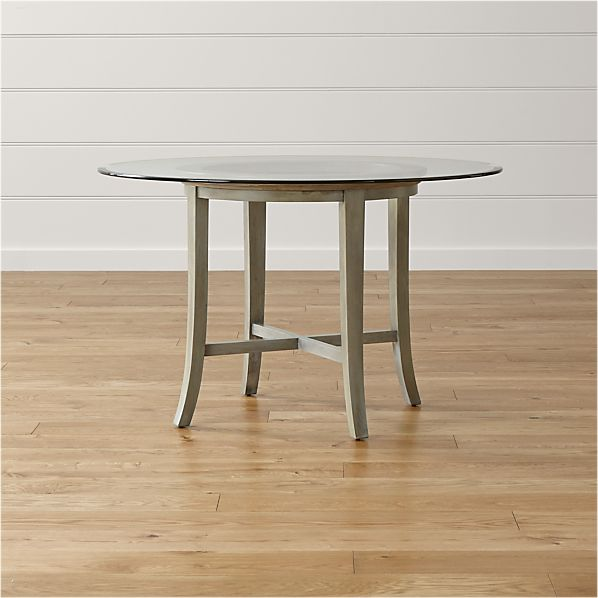 Halo Grey Round Dining Tables with Glass Top