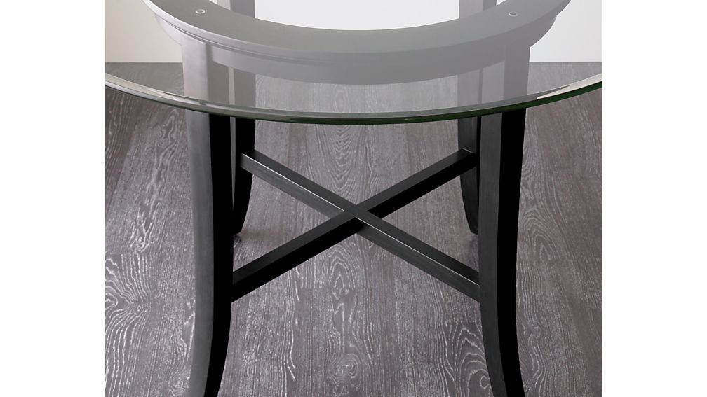 "Halo Ebony Round Dining Table with 48"" Glass Top"
