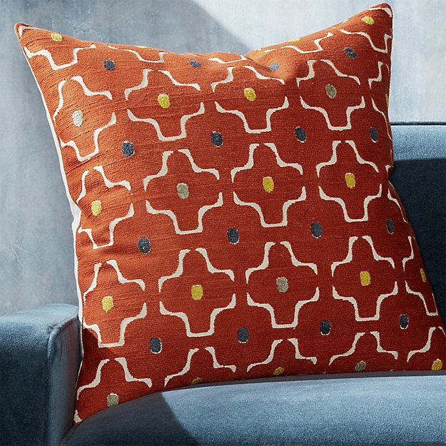 "Halona Orange Pillow 23"" - Image 1 of 6"