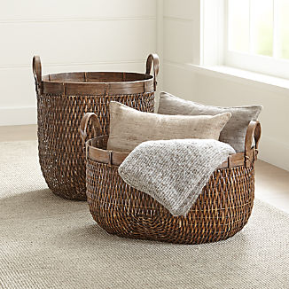 Halton Oval Rattan Basket Tall