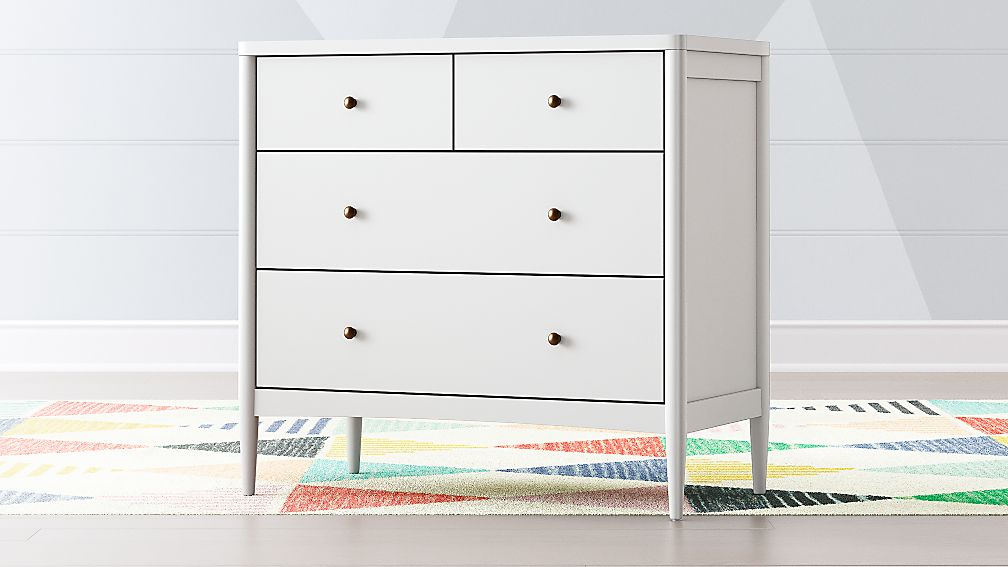 Kids Hampshire White 4 Drawer Dresser Reviews Crate And Barrel