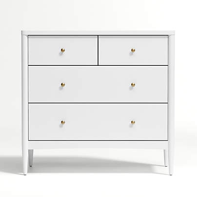 View testKids Hampshire White 4-Drawer Dresser