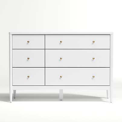 View testKids Hampshire White 6-Drawer Dresser