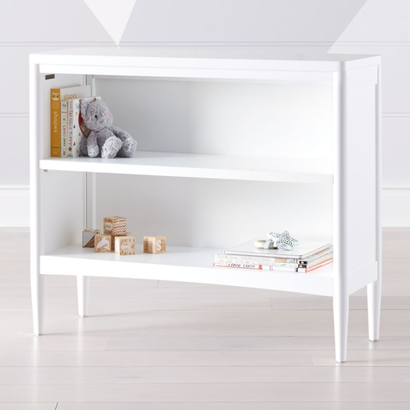 Hampshire Small White Bookcase by Crate&Barrel