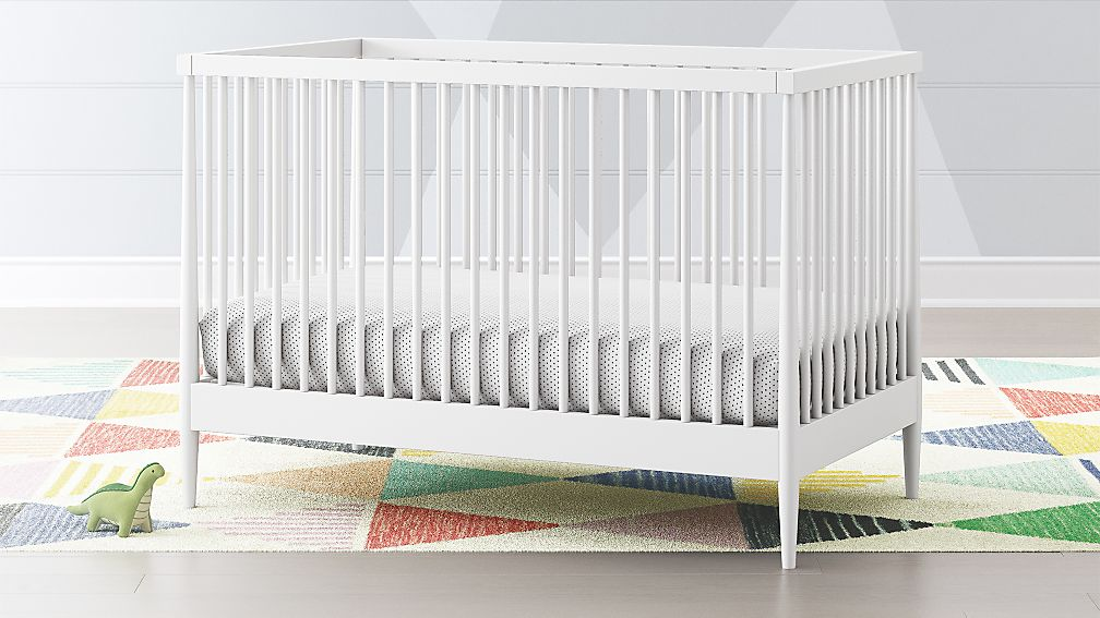 Hampshire White Crib + Reviews | Crate and Barrel
