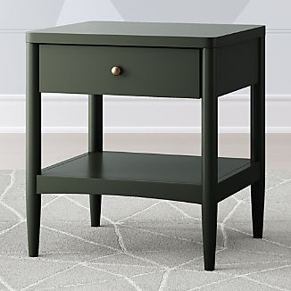 Kids Hampshire Olive Green Nightstand
