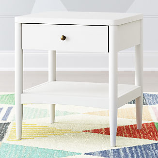 White Bedside Tables Crate And Barrel