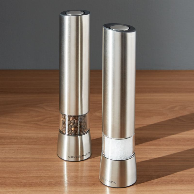 Electric Salt And Pepper Grinder Crate And Barrel