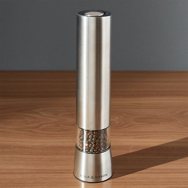 cole mason hampstead electric pepper mill with light. Black Bedroom Furniture Sets. Home Design Ideas