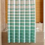 Hampton Stripe Seafoam Shower Curtain