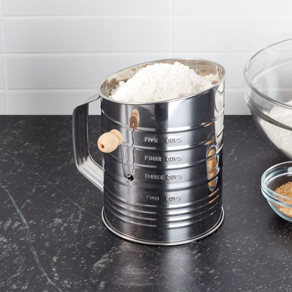 Hand Crank 5-Cup Flour Sifter - Crate and Barrel