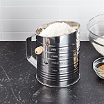 Hand Crank 5-Cup Flour Sifter