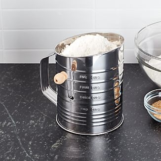 Hand Crank 5-Cup Flour Sifter