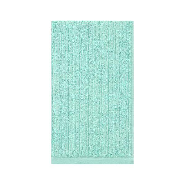 Ribbed Aqua Hand Towel