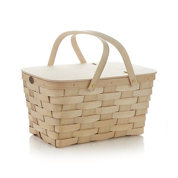 Handmade American Baskets : Peterboro handmade picnic basket crate and barrel