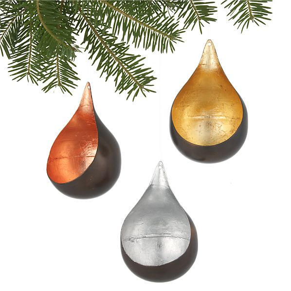 Set of 3 Hanging Luminere Ornaments