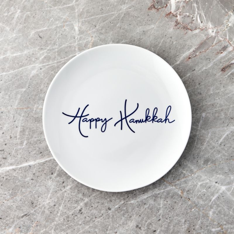 Happy Hanukkah Salad Plate