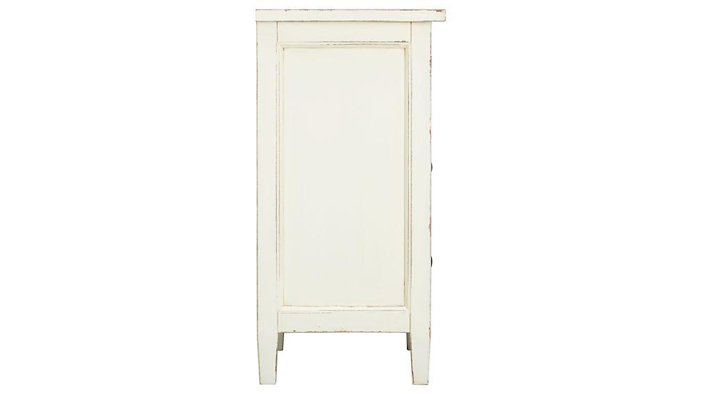 Harbor White 2-Drawer Nightstand