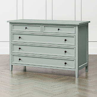 Harbor Blue Grey 5-Drawer Dresser