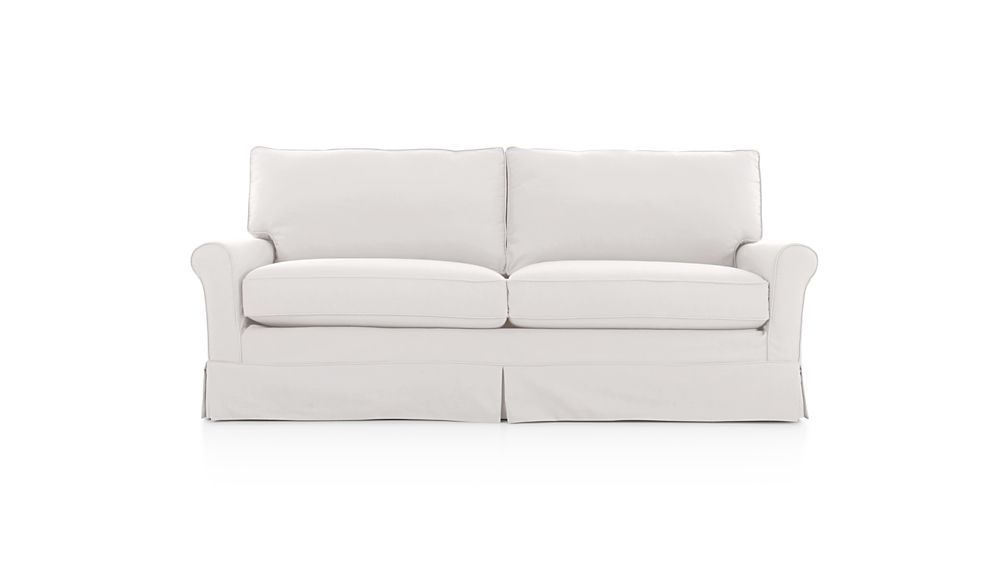 Harborside Slipcovered Apartment Sofa | Crate and Barrel
