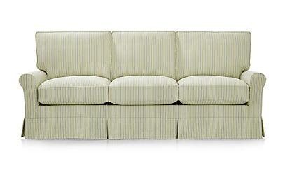 Harborside Stripe Slipcovered 3 Seat Queen Sleeper Sofa Shaw Lime