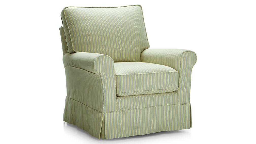 Harborside Stripe Slipcovered Chair
