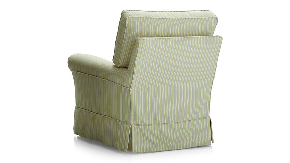 Harborside Stripe Slipcovered 360 Swivel Chair