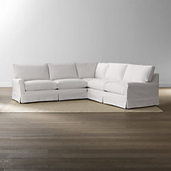 Harborside Slipcovered Apartment Sofa Crate And Barrel