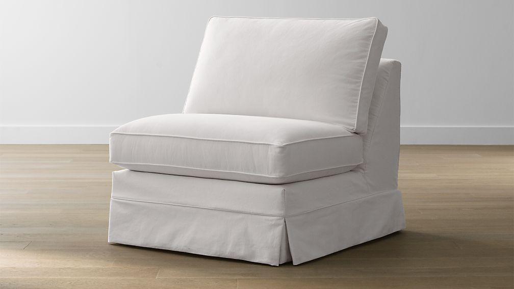 Harborside Slipcovered Armless Chair