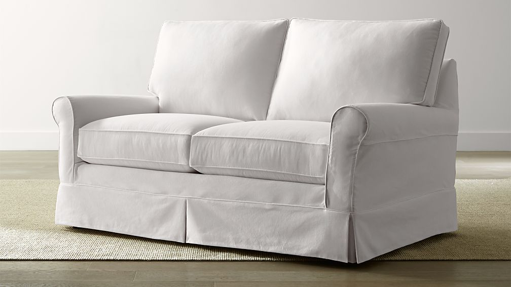 Harborside Slipcovered Loveseat Crate and Barrel