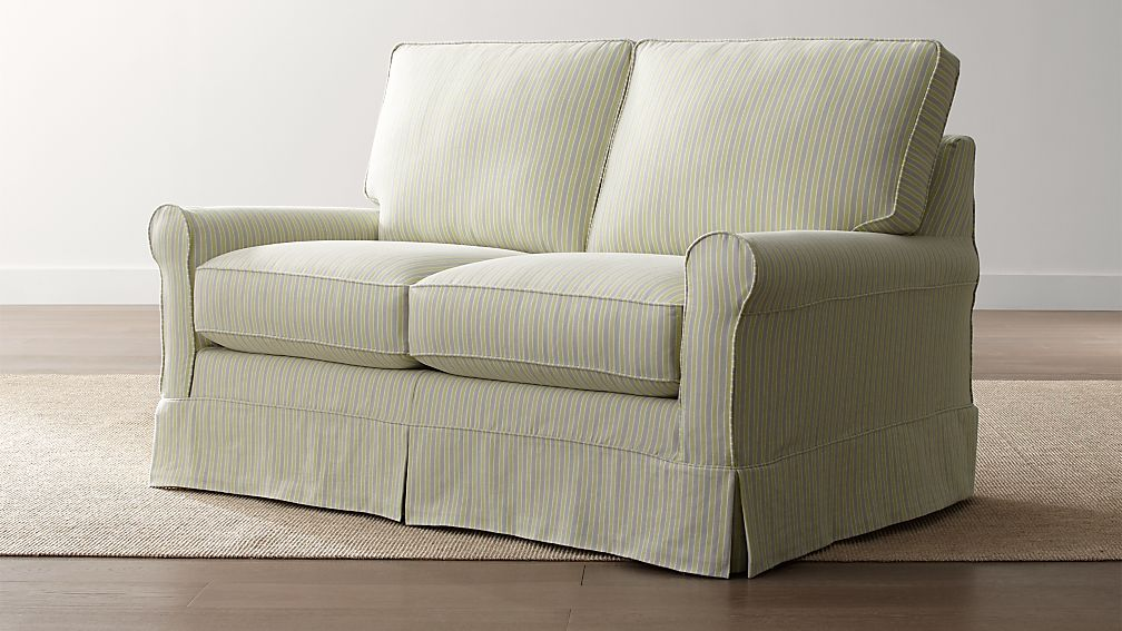 Harborside Stripe Slipcovered Loveseat
