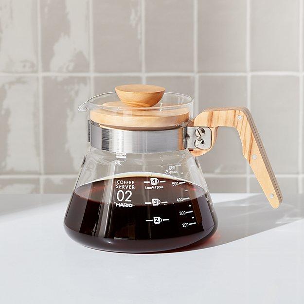 Hario 600-ml Olivewood Coffee Server - Image 1 of 2