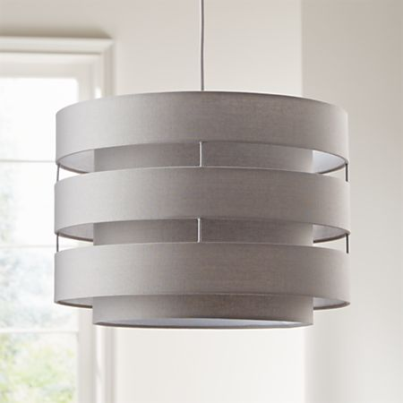 Harlow Grey Drum Pendant Light