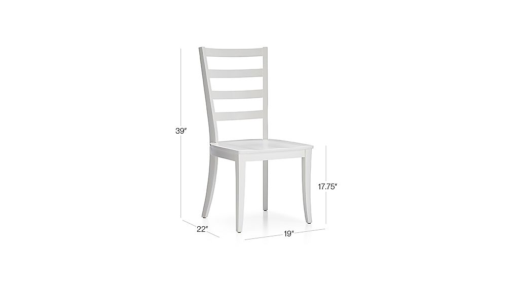 Harper White Ladder Back Dining Chair Crate And Barrel