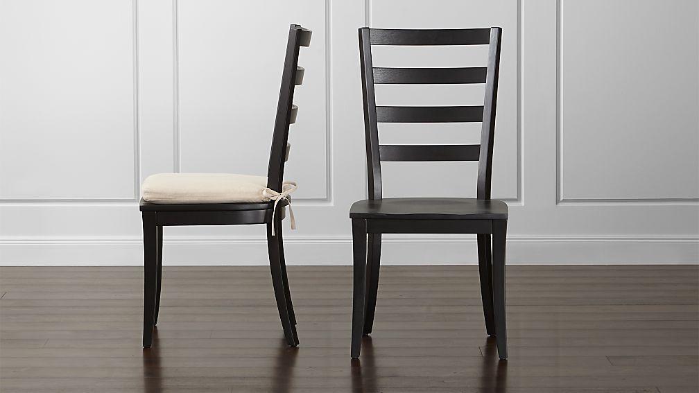 Harper Black Ladder Back Wood Dining Chair And Sand
