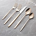 Harper Rose Gold 20-Piece Flatware Set