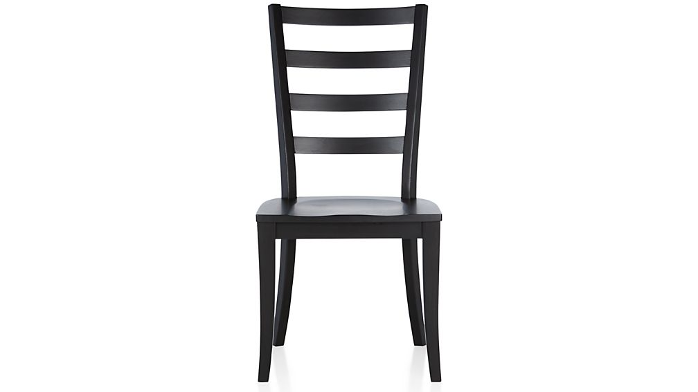 ... Harper Black Ladder Back Dining Chair ...