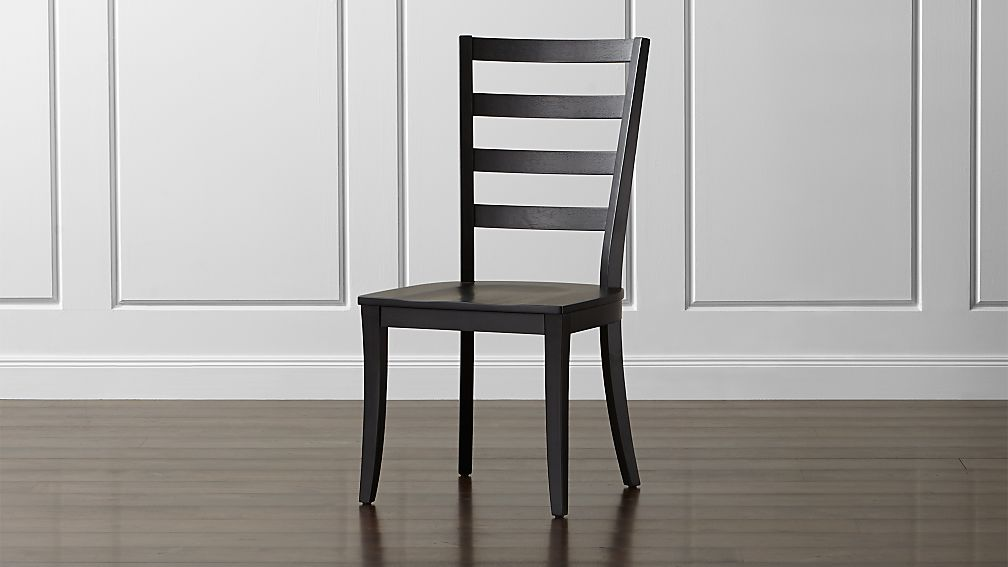 Harper Black Ladder Back Dining Chair