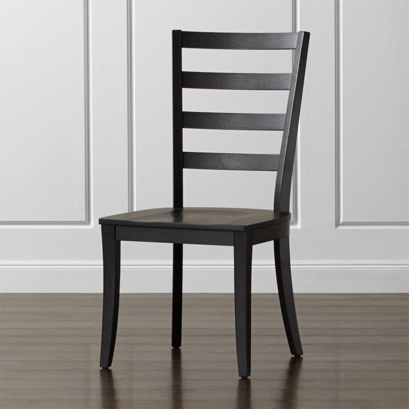 Attractive Harper Black Ladder Back Dining Chair