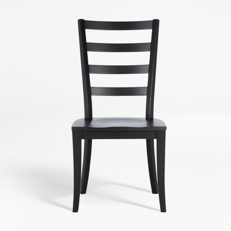 Shop Harper Black Ladder Back Dining Chair from Crate and Barrel on Openhaus