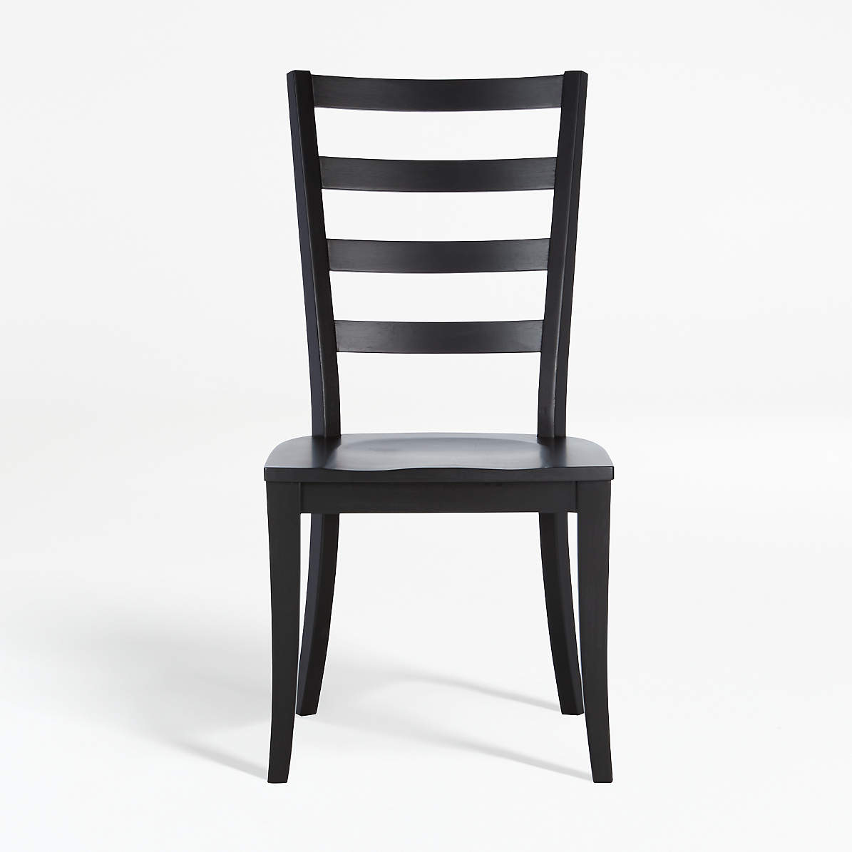 Picture of: Harper Black Ladder Back Dining Chair Reviews Crate And Barrel